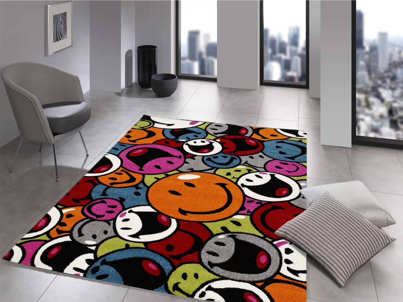 teppich multicolor designer ha008 smile modern 120x170cm. Black Bedroom Furniture Sets. Home Design Ideas