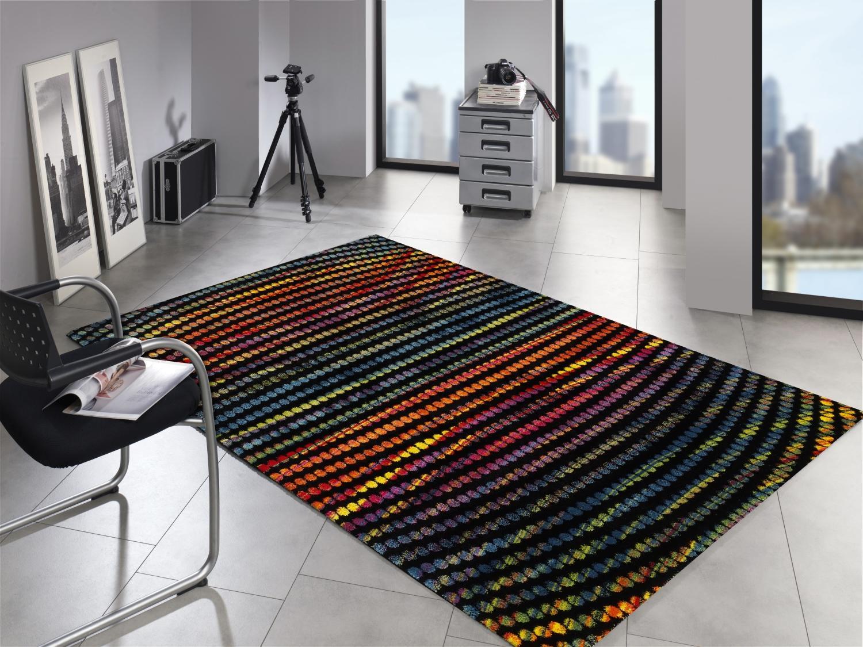 Tappeto multicolore designer ha metris moderno punti cm