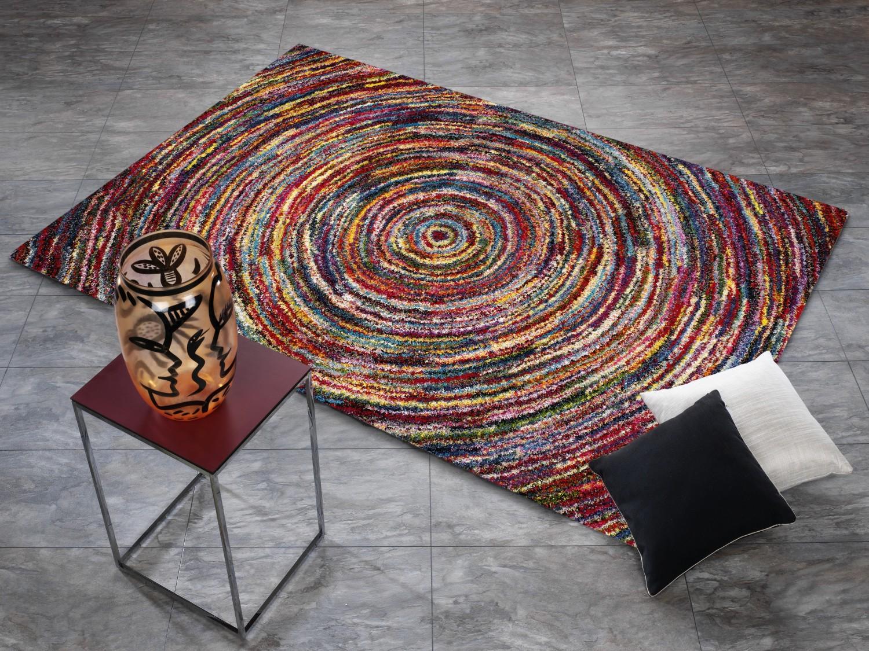 Tappeto multicolore designer six05 rotondo moderno 160x230cm