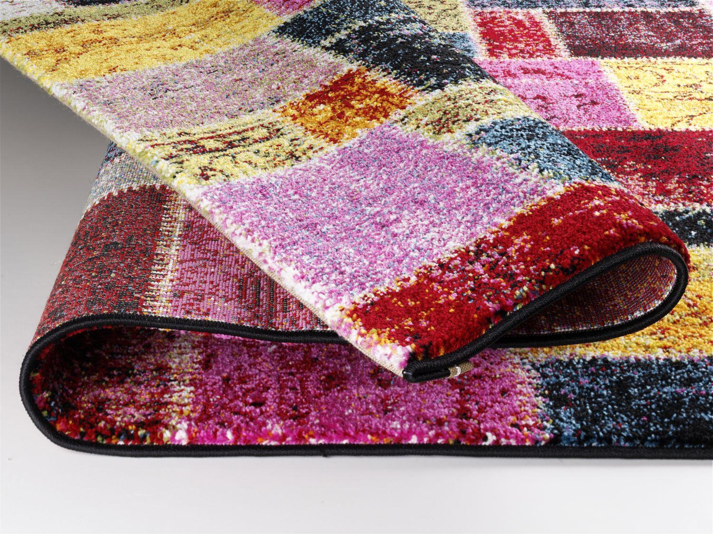 teppich multicolor designer ha037 random patchwork modern. Black Bedroom Furniture Sets. Home Design Ideas