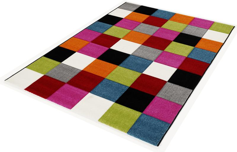 Teppich Multicolor Designer 011 Modern Caro 80x150cm  eBay