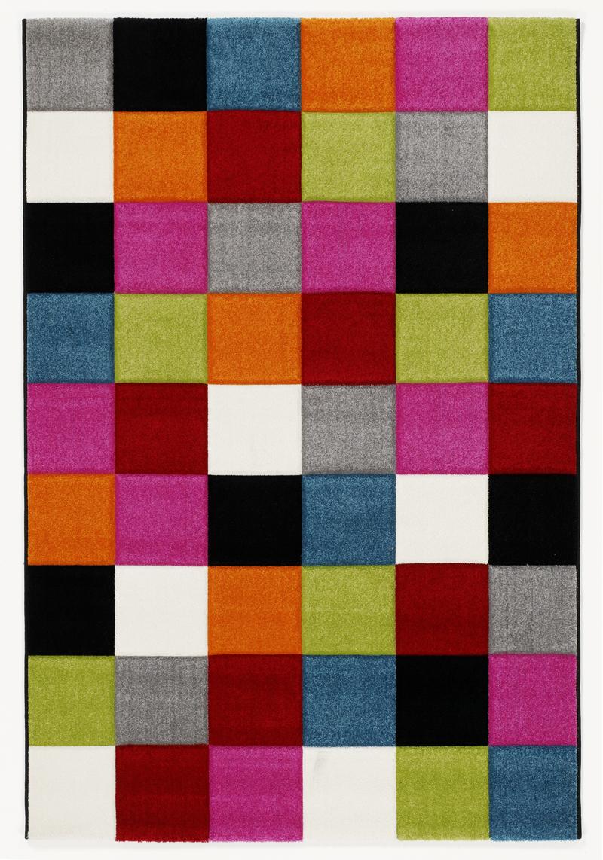 Rug Multicolour Designer 011 Modern Check 120x170cm  eBay