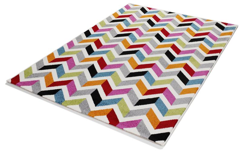 tapis multicolore design 009 moderne rayures 120x170cm ebay. Black Bedroom Furniture Sets. Home Design Ideas