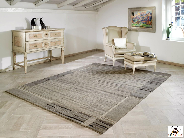 nepal teppich indo nepal kollektion sv002 640 grau 140x200. Black Bedroom Furniture Sets. Home Design Ideas