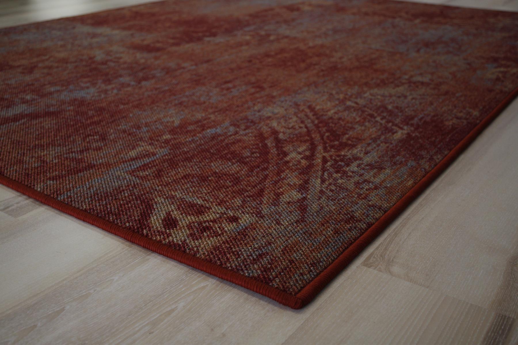 patchwork teppich teppichboden rot 200x200 cm billerbeck. Black Bedroom Furniture Sets. Home Design Ideas