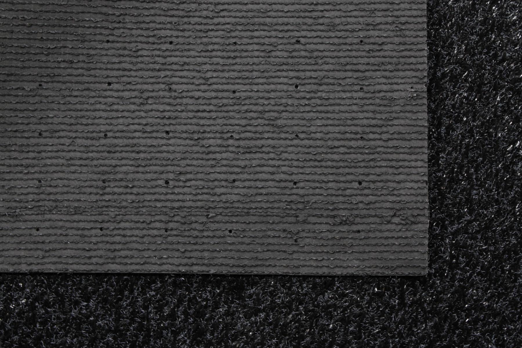 Rasenteppich Kunstrasen 15 mm Tuftrasen schwarz 200x700 cm