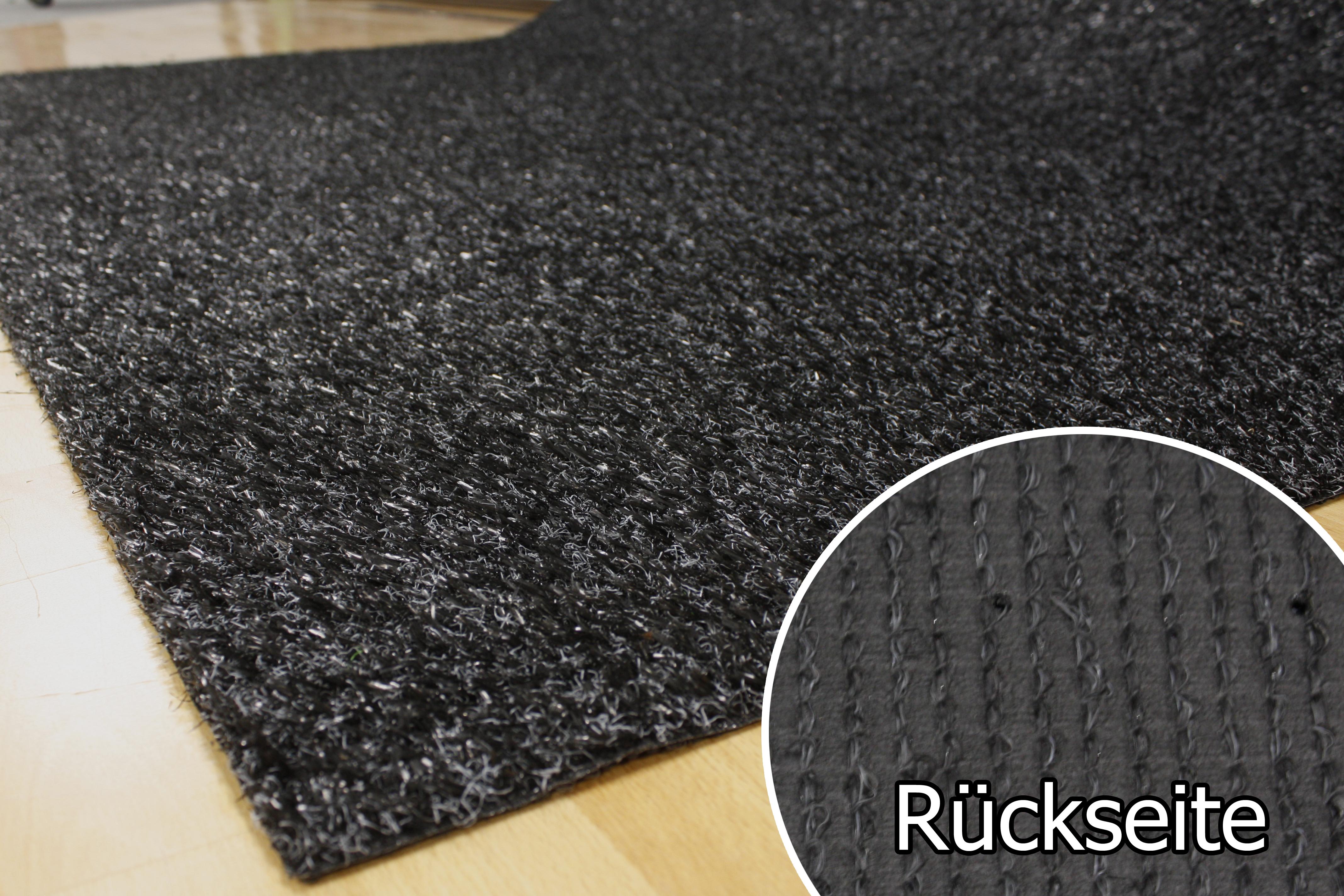 rasenteppich kunstrasen 15 mm tuftrasen schwarz 400x660 cm spedition ebay. Black Bedroom Furniture Sets. Home Design Ideas