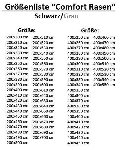 Gazon synth tique tapis gazon comfort noir gris 200x300 for Vers gris gazon