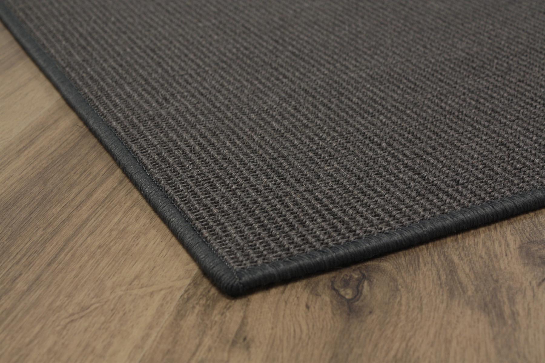 sisal teppich umkettelt anthrazit 200x300cm 100 sisal gekettelt ebay. Black Bedroom Furniture Sets. Home Design Ideas