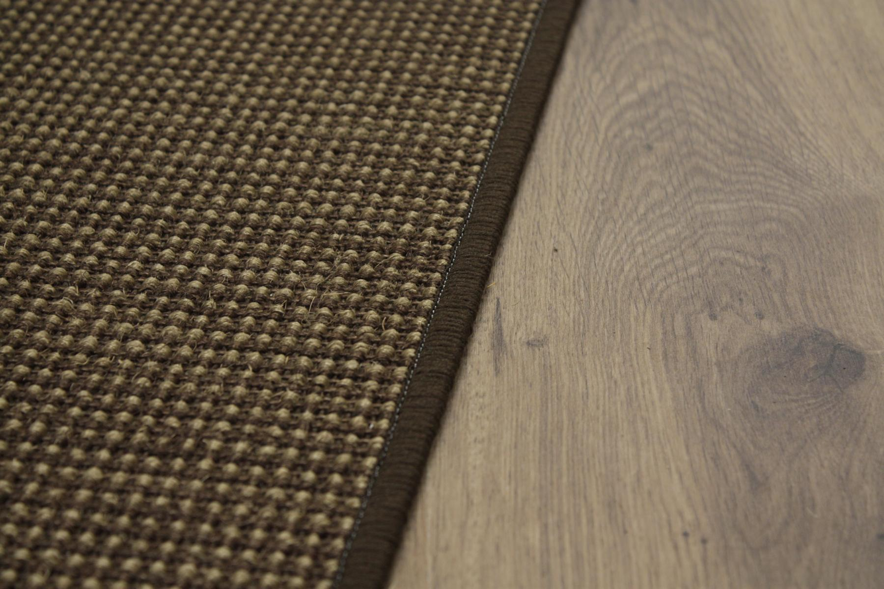 sisal teppich umkettelt gemustert kaffee 100x200cm 100 sisal braun gekettelt ebay. Black Bedroom Furniture Sets. Home Design Ideas