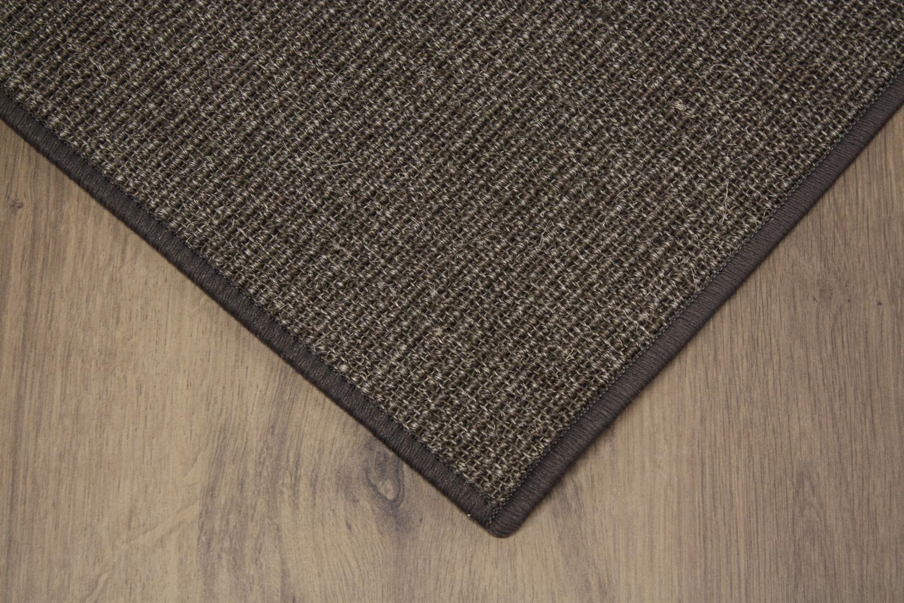 sisal teppich umkettelt kaffee 200x300cm 100 sisal braun gekettelt ebay. Black Bedroom Furniture Sets. Home Design Ideas