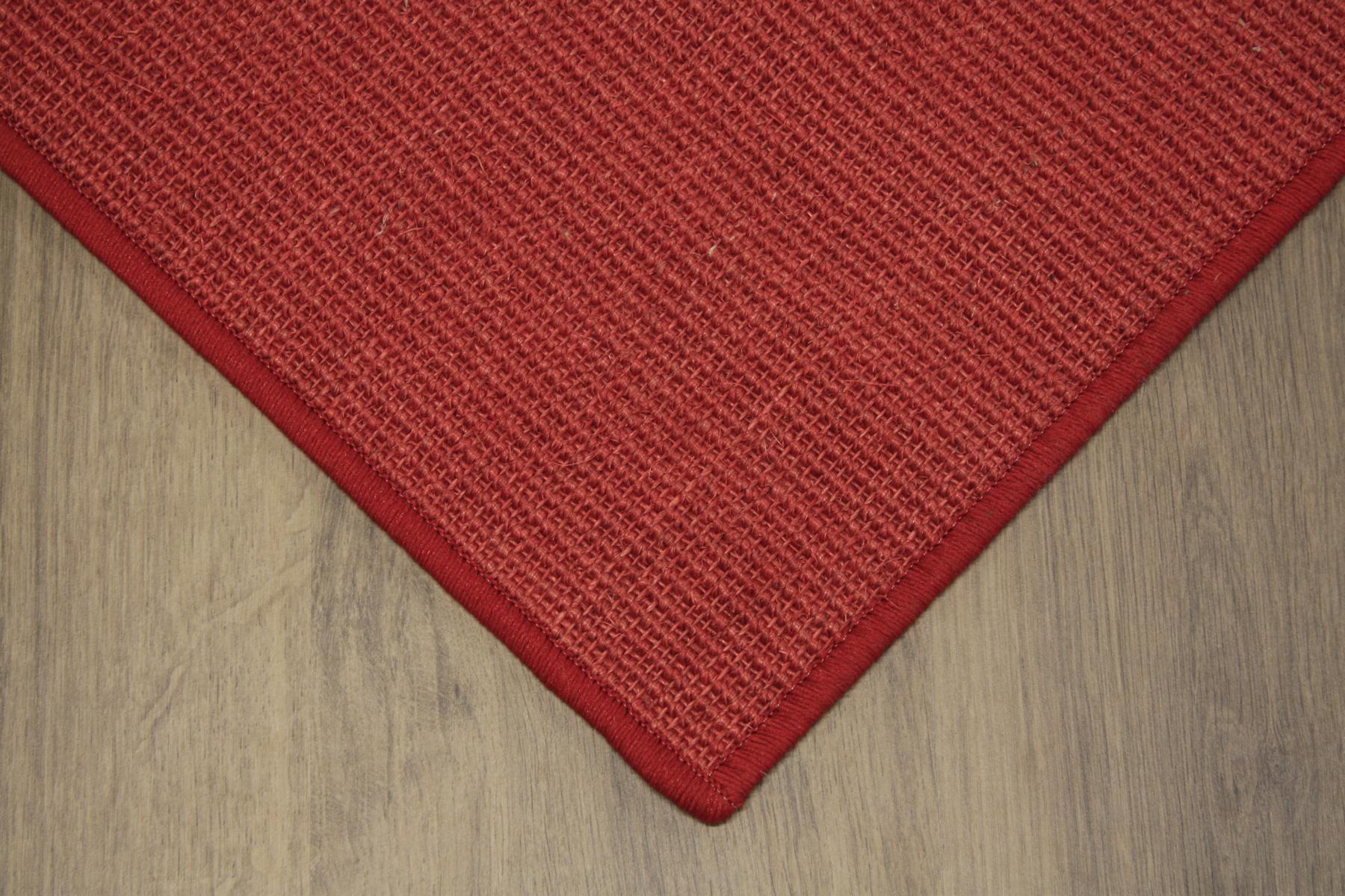 sisal tapis surfil rouge 200x200cm 100 sisal boucle ebay. Black Bedroom Furniture Sets. Home Design Ideas