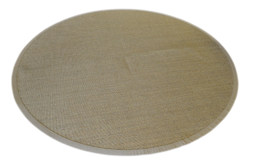 tapis en sisal tapis bordures beige 250cm rond 100 sisal ebay. Black Bedroom Furniture Sets. Home Design Ideas