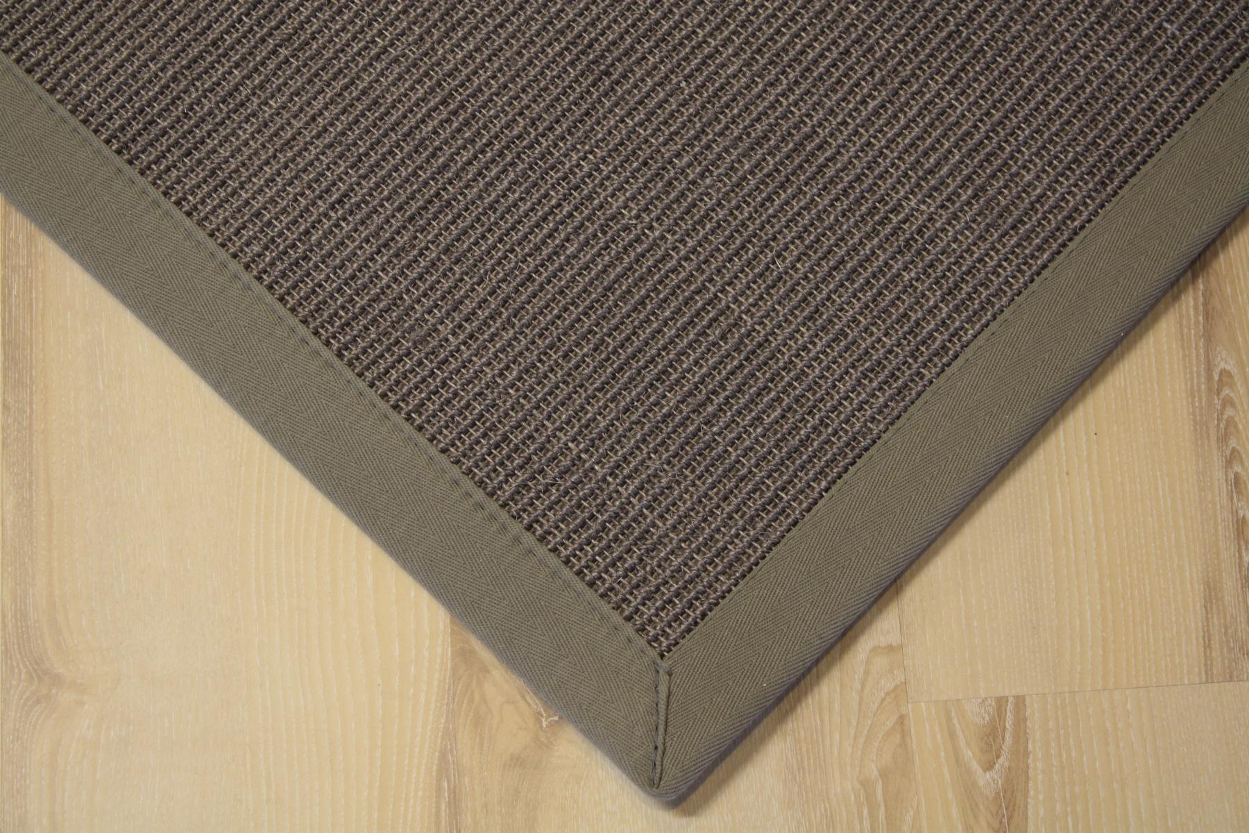sisal teppich manaus mit bord re grau 250x350 cm 100 sisal ebay. Black Bedroom Furniture Sets. Home Design Ideas