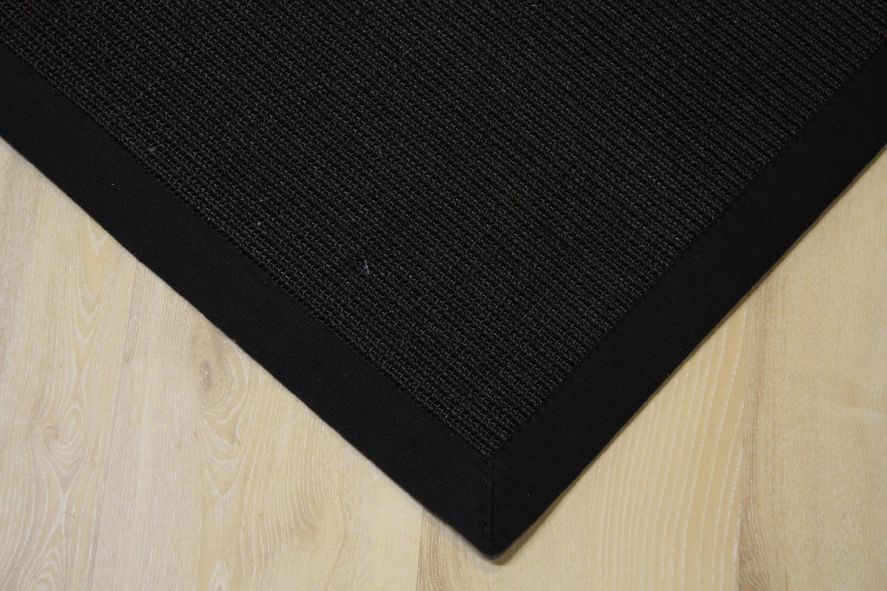 sisal teppich manaus mit bord re schwarz 250x300 cm 100 sisal ebay. Black Bedroom Furniture Sets. Home Design Ideas
