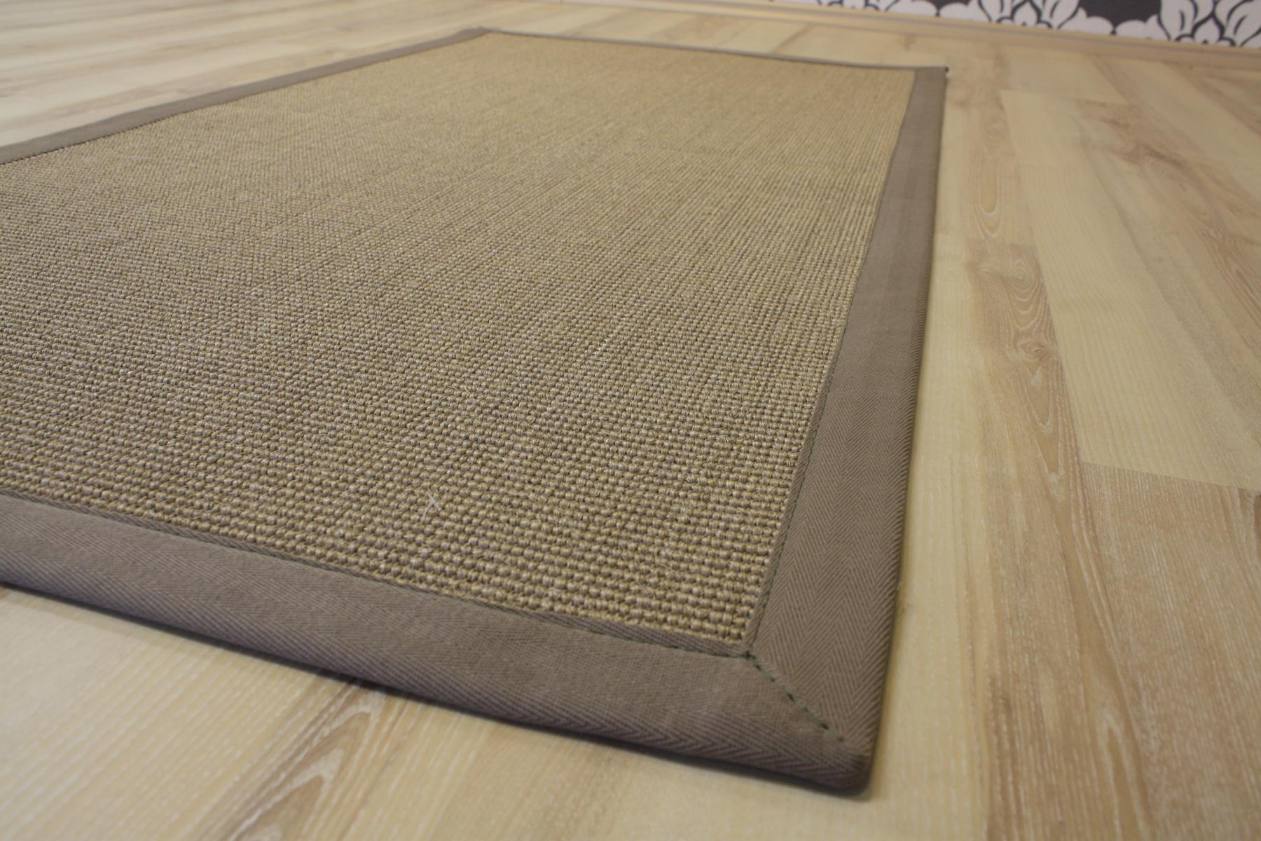 sisal teppich salvador mit bord re creme stein 300x400 cm. Black Bedroom Furniture Sets. Home Design Ideas