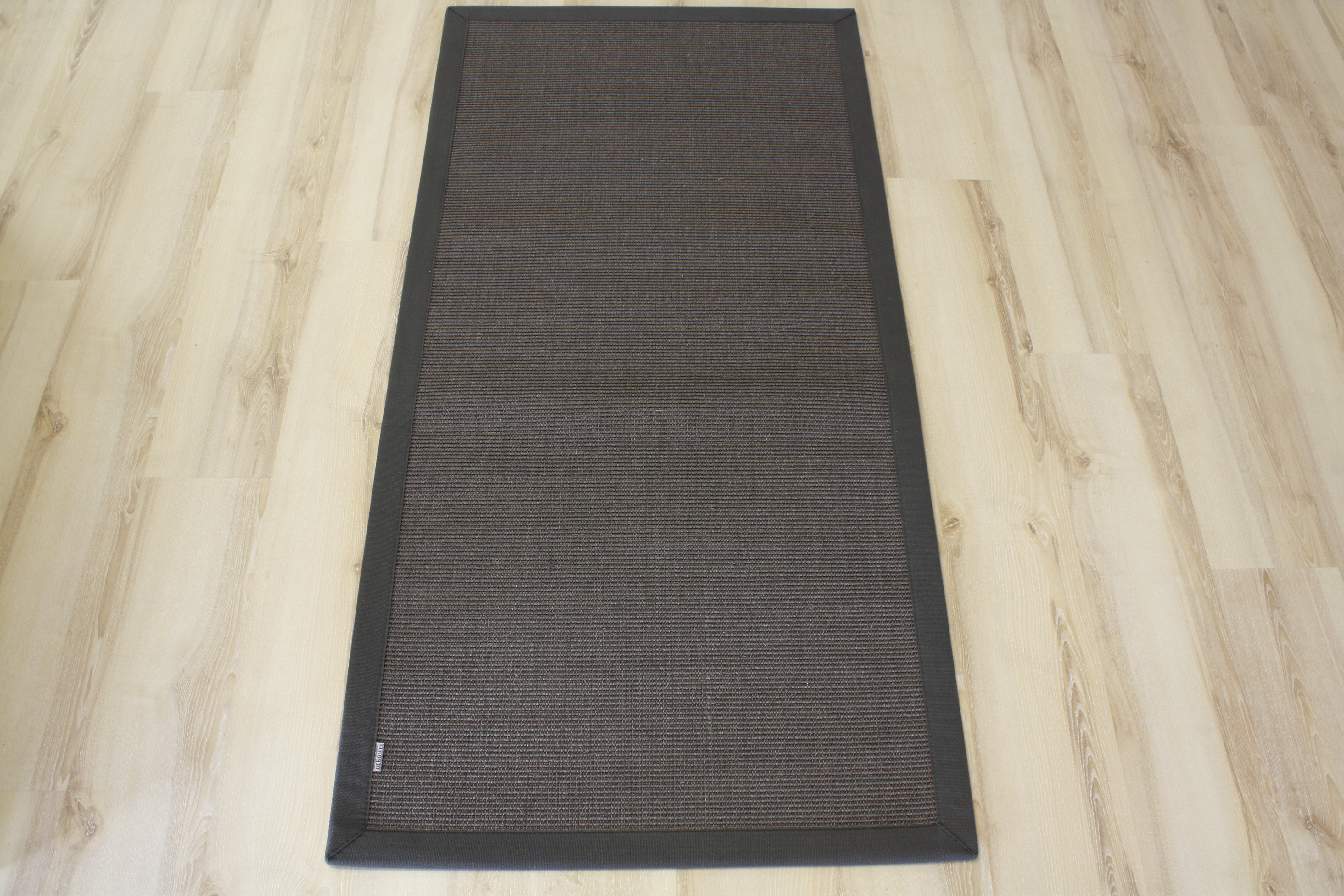 tapis en sisal tapis bordures anthracite 250x350cm 100 sisal ebay. Black Bedroom Furniture Sets. Home Design Ideas