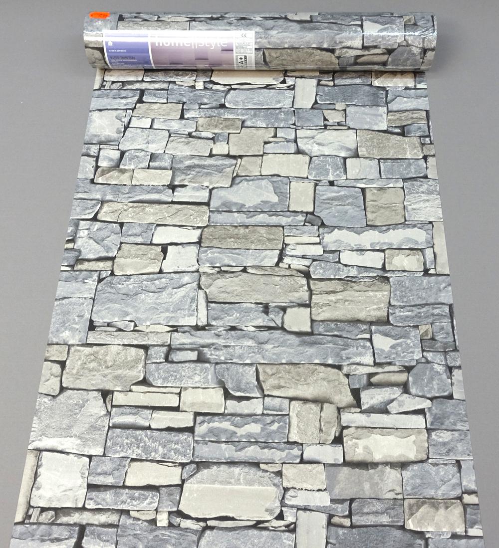 vliestapete 859102 rasch tapete stein natur mauer grau beige 859102 ahaus 4000441859102 ebay. Black Bedroom Furniture Sets. Home Design Ideas
