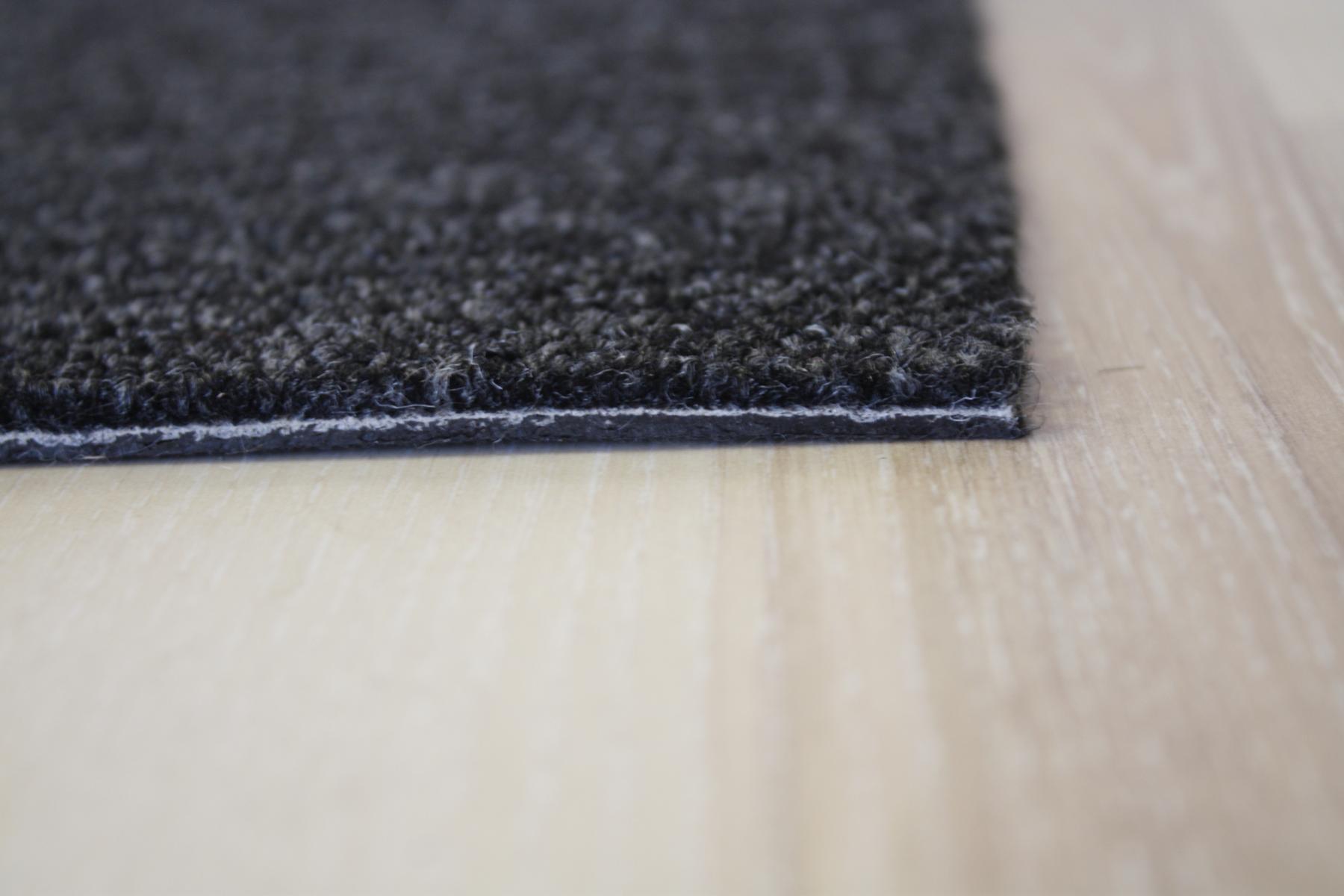 Teppich Fliese Domo Diva 25×100 cm 966 schwarz Bohle Diele