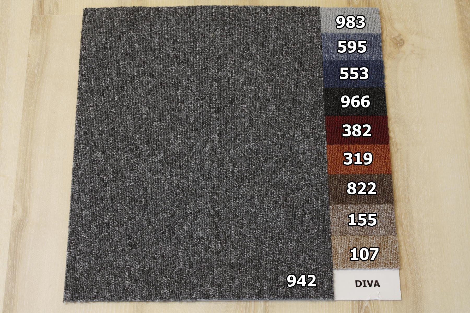 Carpet Tiles Diva 50×50 cm B1 Balta 822 Brown Cs1  eBay