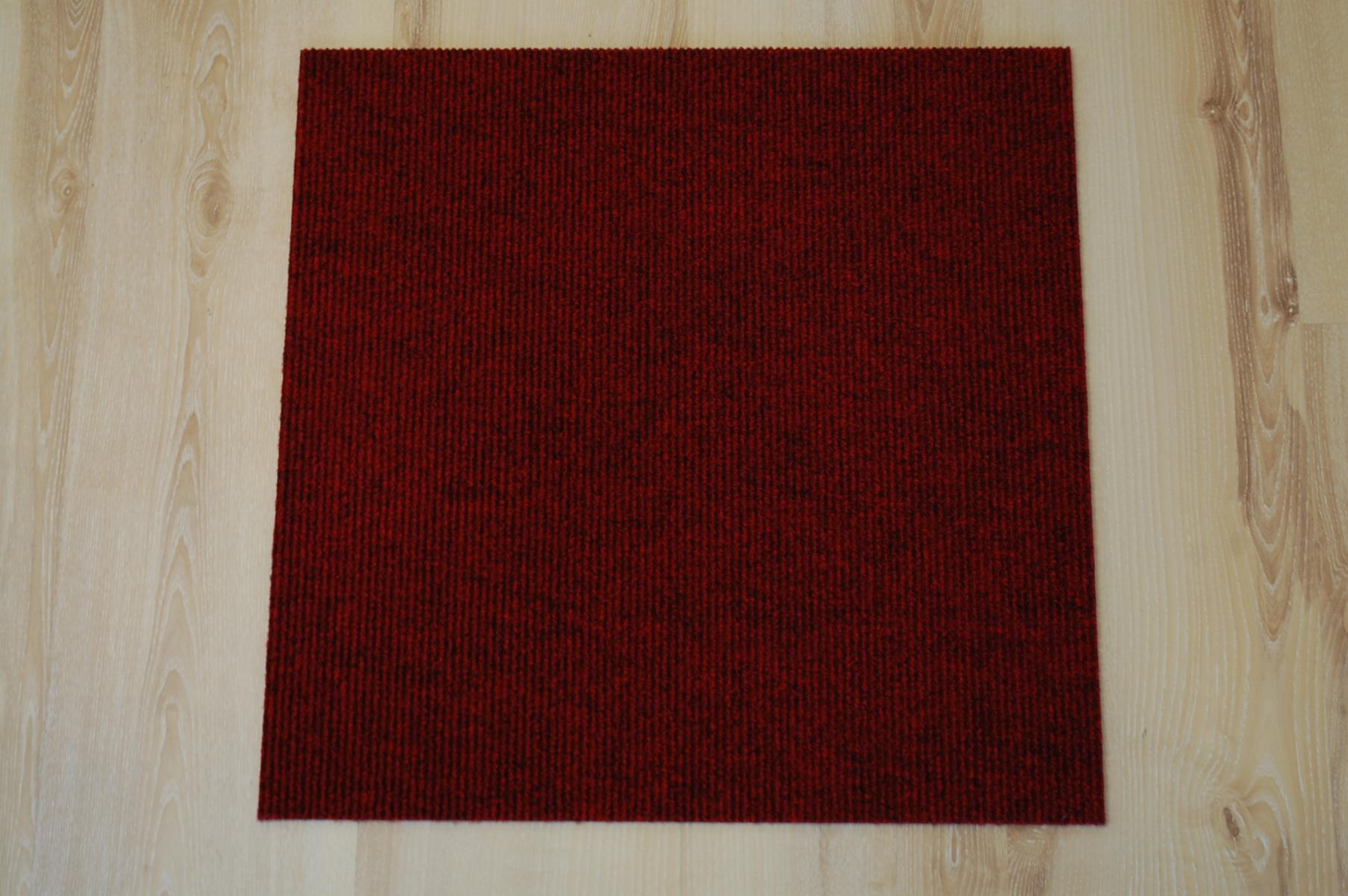 Teppich Fliesen Prima 50x50 cm B1 Balta 316 rot B-s1