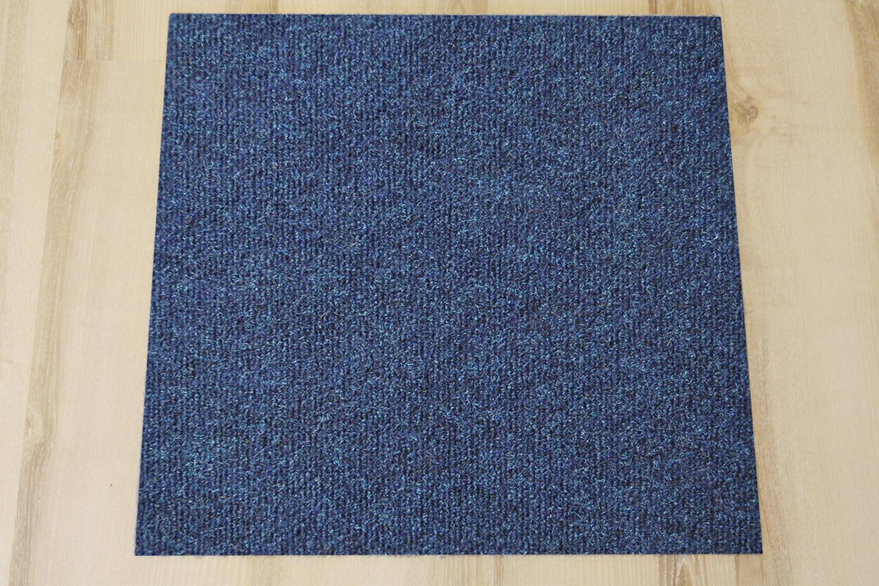 Teppich fliesen rex 50x50 cm b1 balta 541 d blau b s1 ebay for Fliesen blau