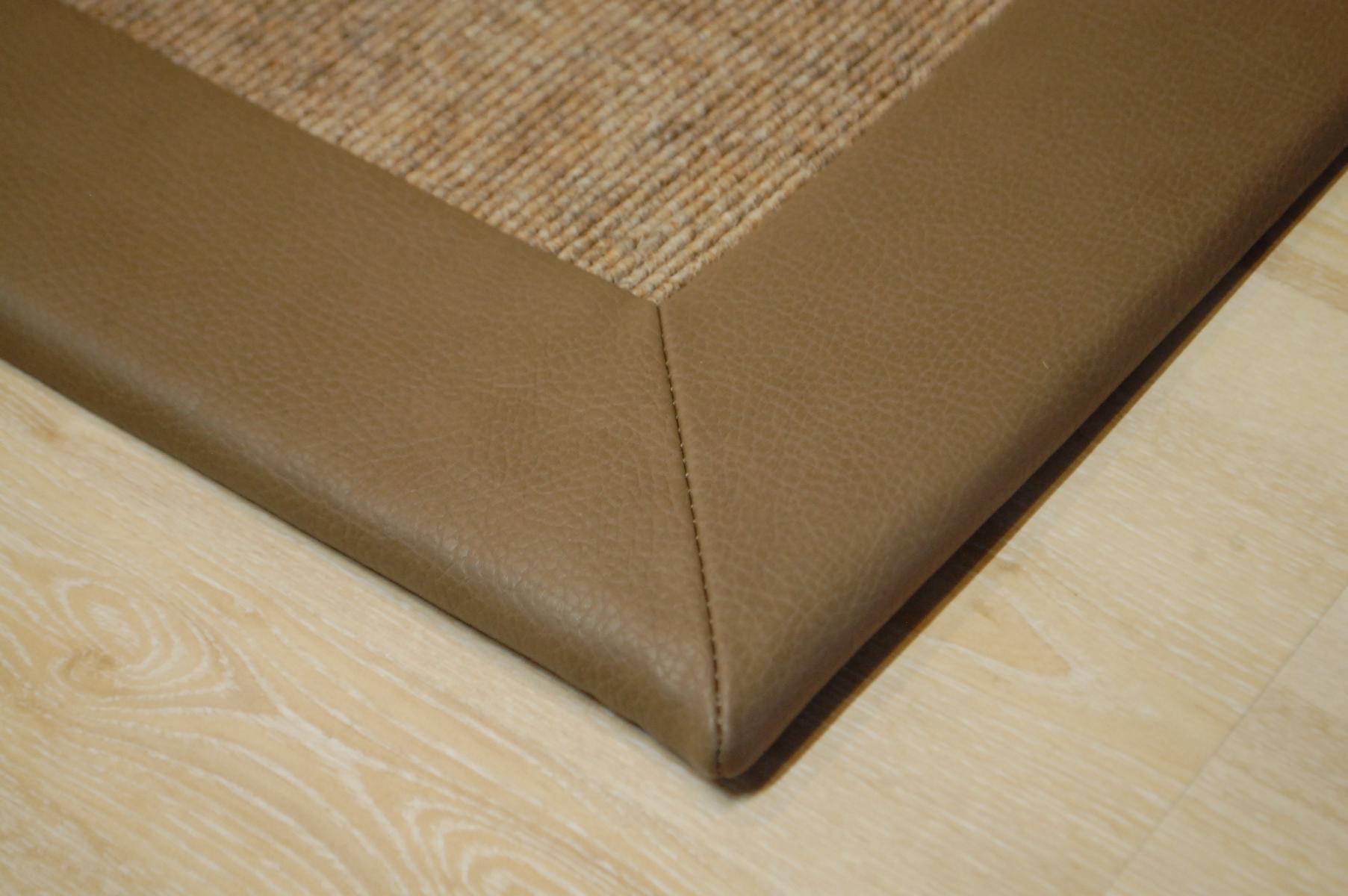 teppich tretford 571 kunstleder bord re 200x250 cm braun ebay. Black Bedroom Furniture Sets. Home Design Ideas