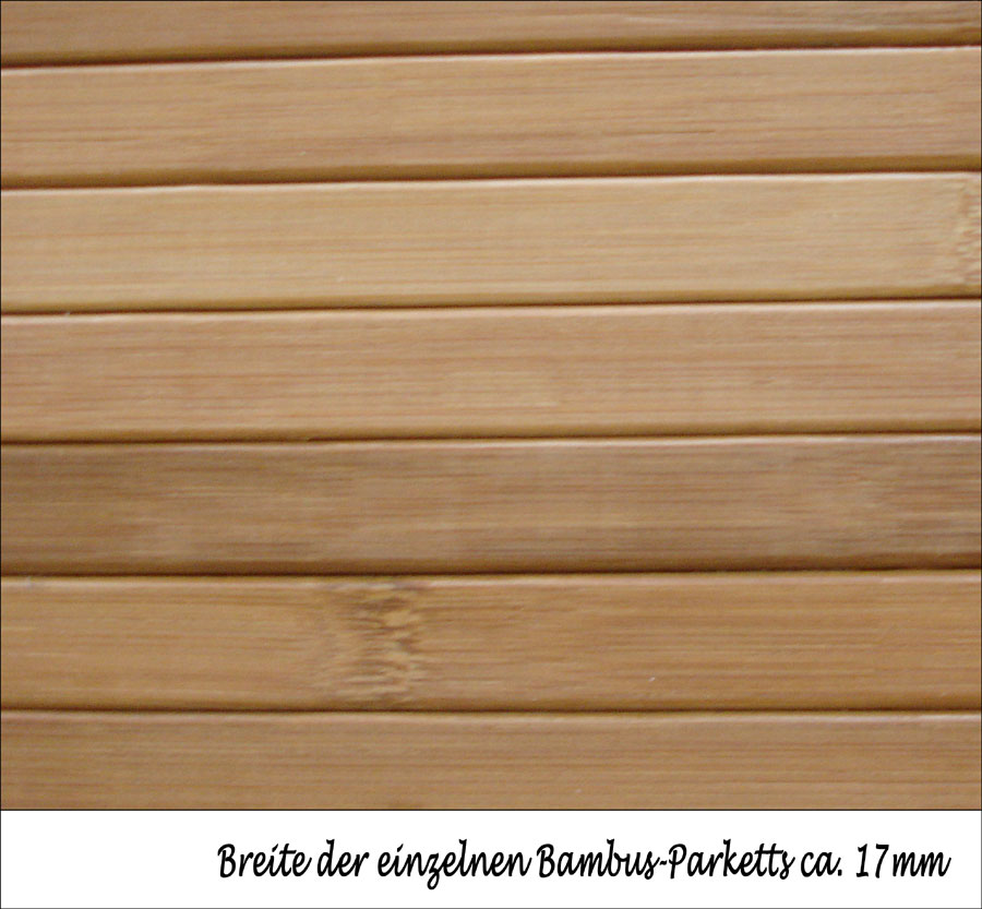 bambus teppich dekowe parkett 100x160 cm beige ebay. Black Bedroom Furniture Sets. Home Design Ideas