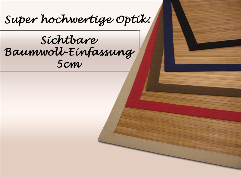 bambus teppich dekowe parkett 200x300 cm rot ebay. Black Bedroom Furniture Sets. Home Design Ideas