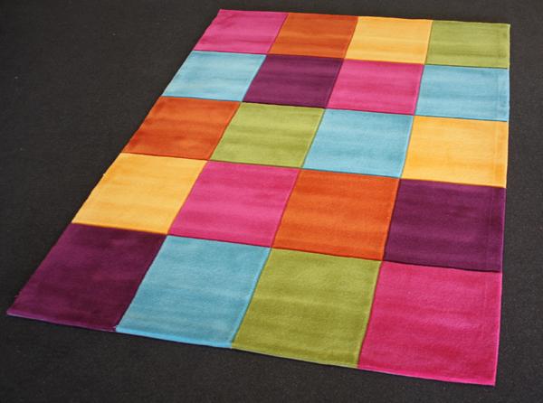 Kinder Teppich Motiv Karo bunt 160×220 cm Handtuft NEU!  eBay