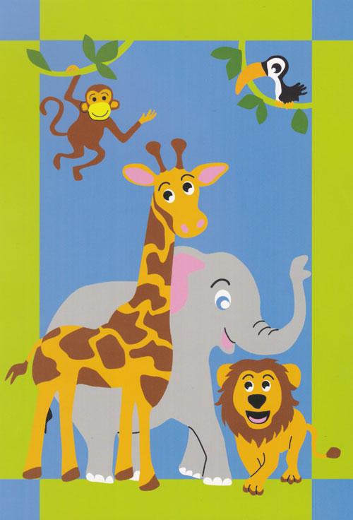 Kinder Spiel Teppich Dschungel 110×170 cm 1363  eBay