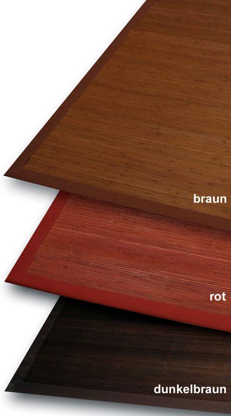 Bambus Teppich 3mm Fine 140x200cm rot  eB
