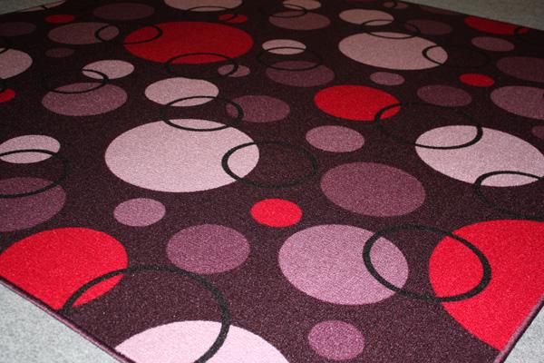 Kinder Teppich Spielteppich Circle brombeer 200x300cm  eBay
